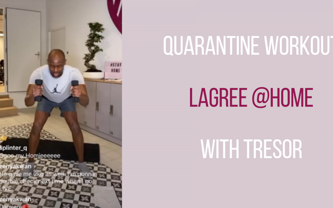 Live workout – Lagree @home with Tresor – 23.03.20