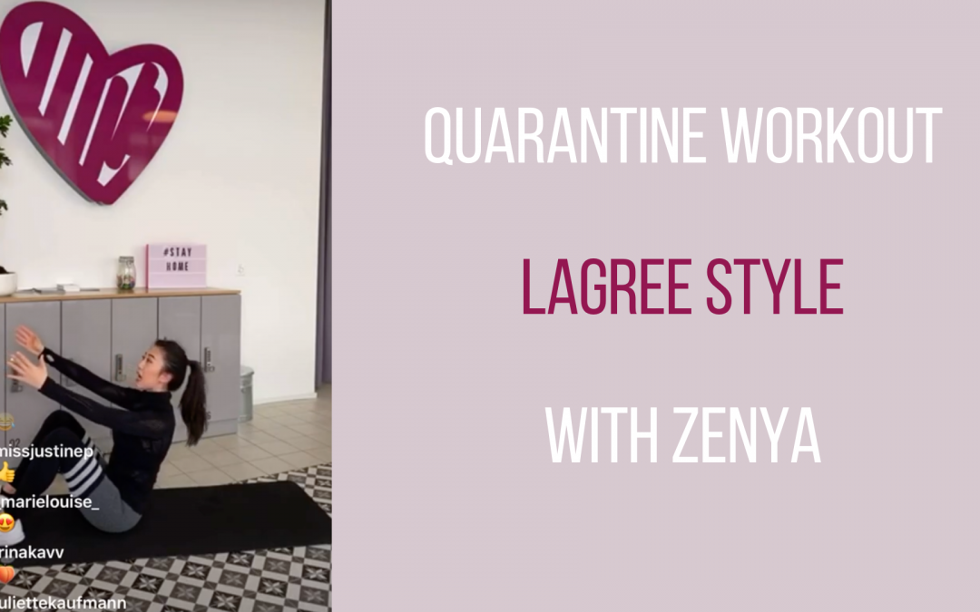 Live workout – Lagree Style with Zenya – 22.03.20